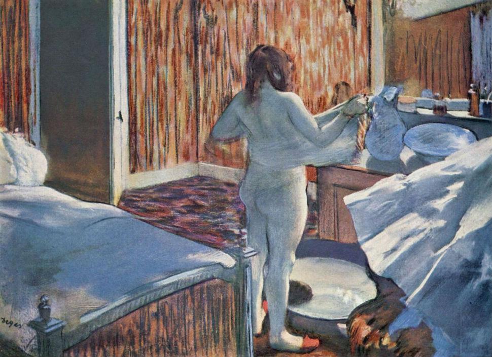 Эдгар Дега - женщина за туалетом - 1885.jpg