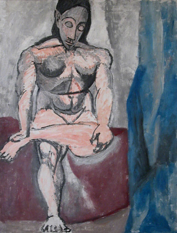 6-Сидящая фигура - Эскиз к Авиньонским девицам - 1907.jpg