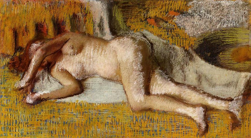 Эдгар Дега - После ванны - 1885.jpg