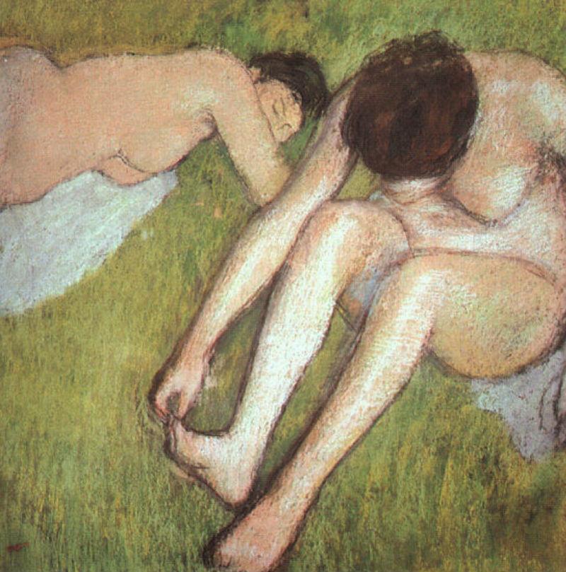 Эдгар Дега - Купальщицы на траве - 1886.jpg