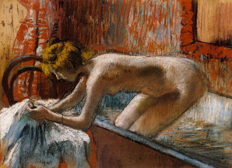 Эдгар Дега - Женщина выходящая из ванны - 1888.jpg