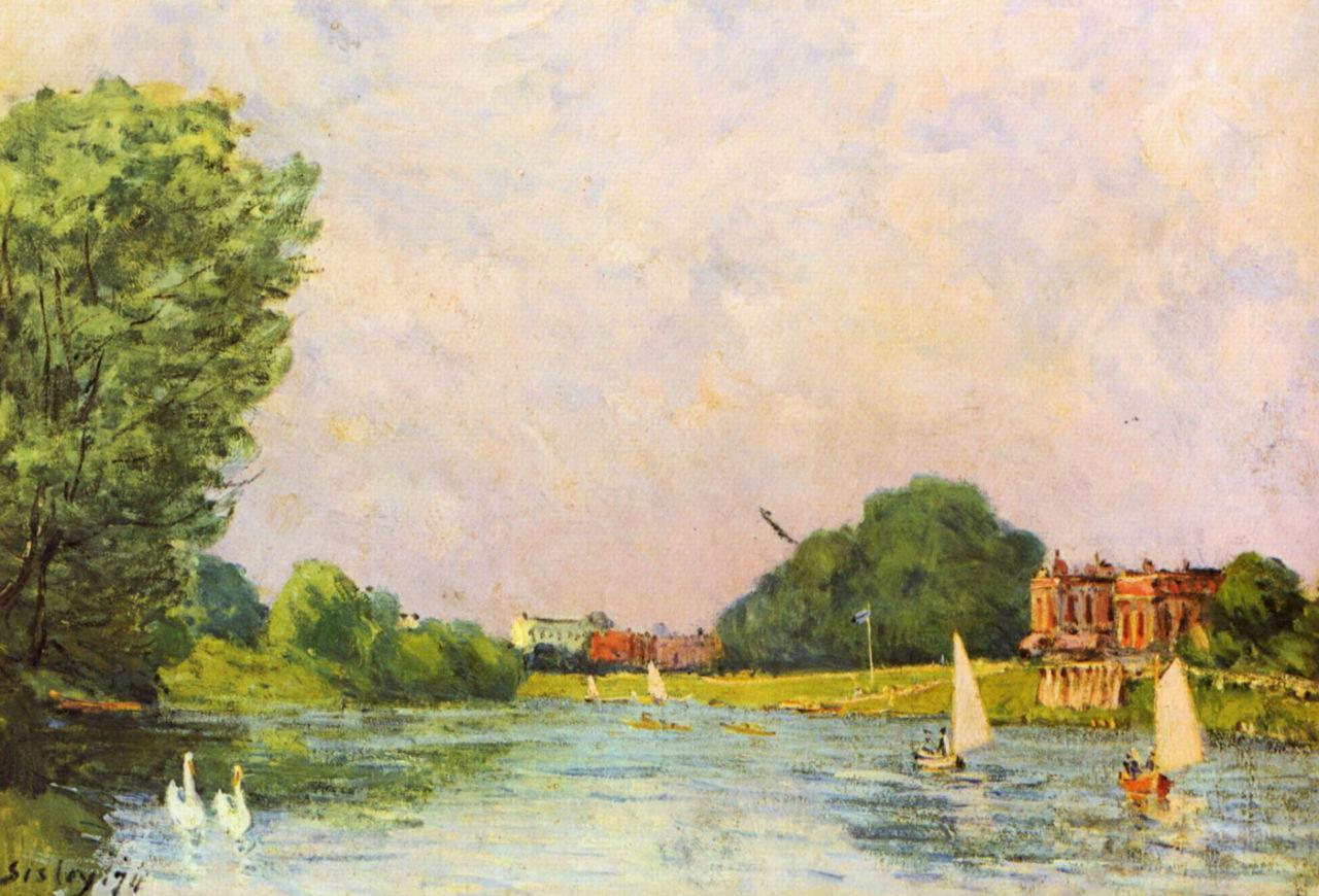 1-Темза близ Хэмптон-Корта - 1874.jpg