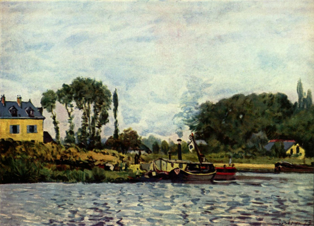 Лодки на канале сен-мартен