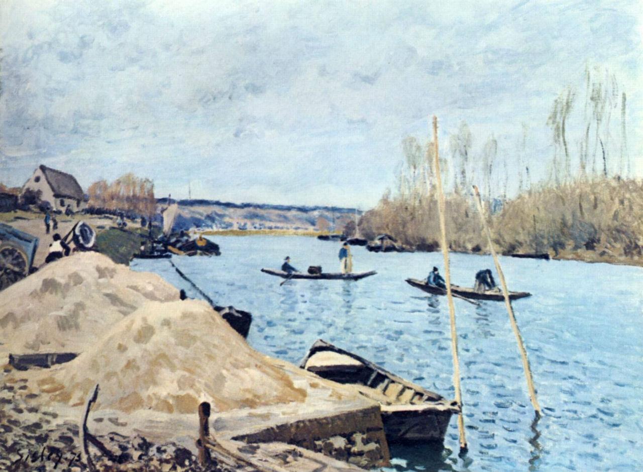 7-Сена в Пор-Марли груды песка - 1875.jpg