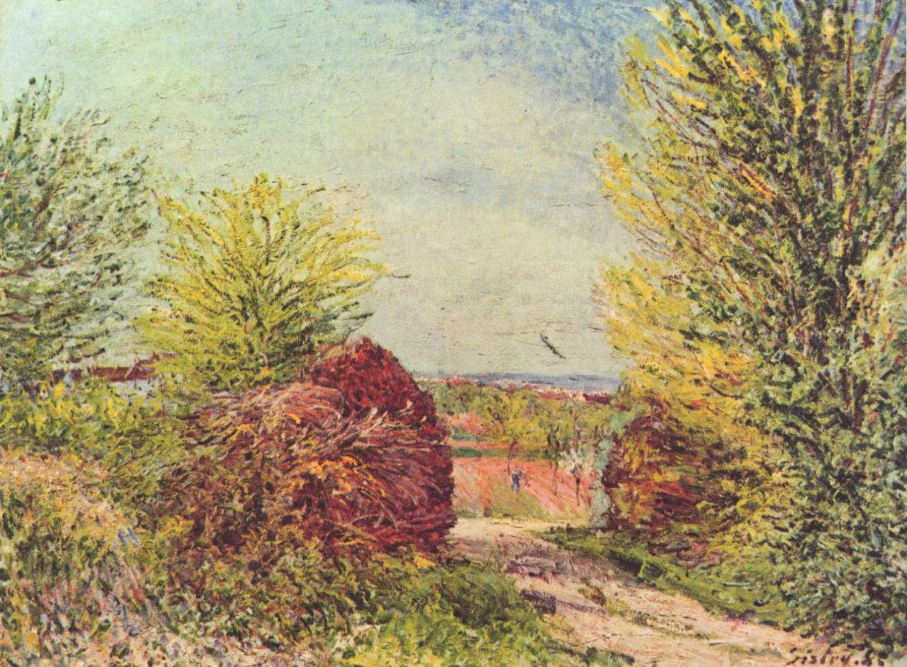 16-Дорога в Ванё-Надон весной - 1885.jpg