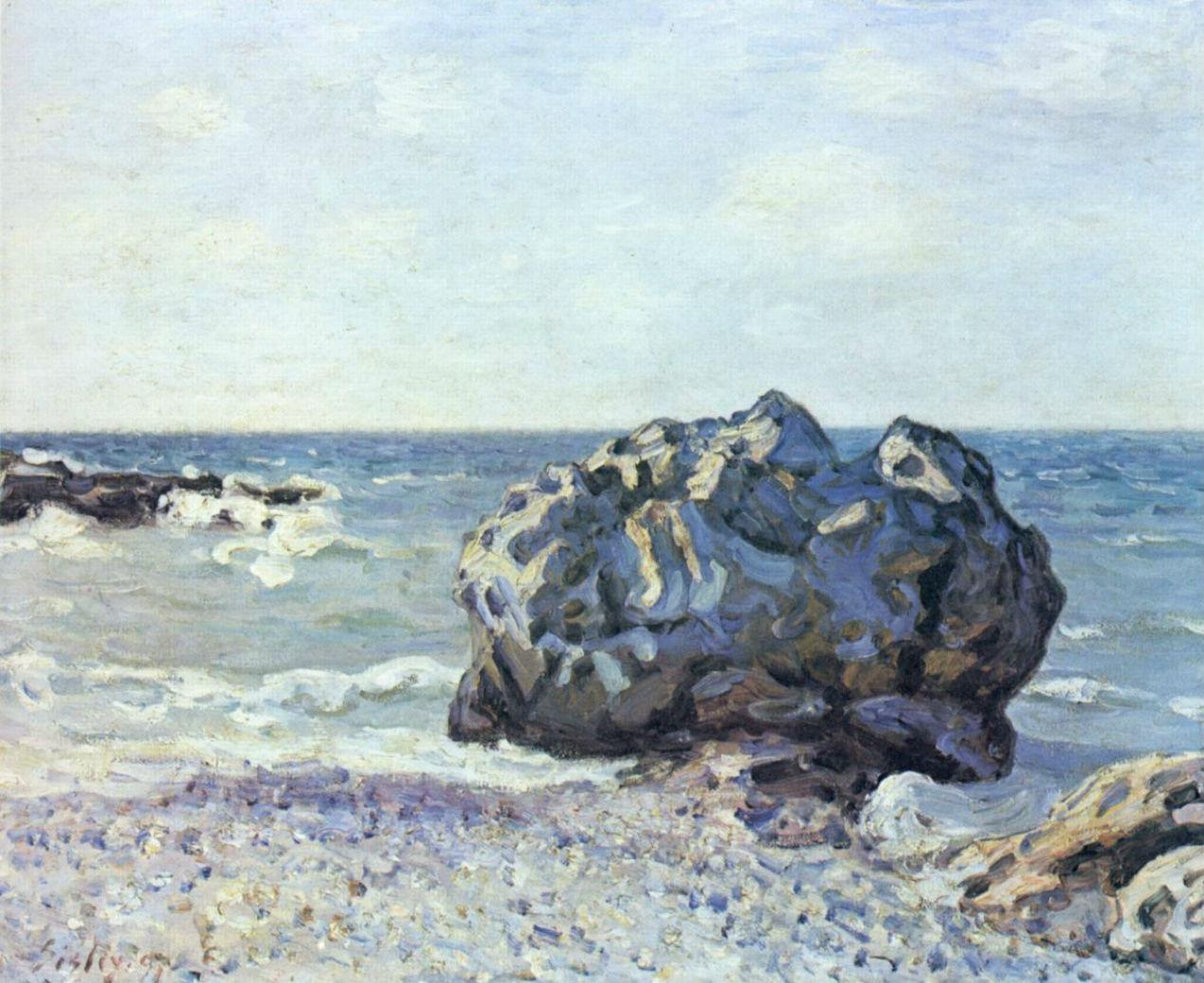 17-Скала в бухте Ланглан - 1887.jpg