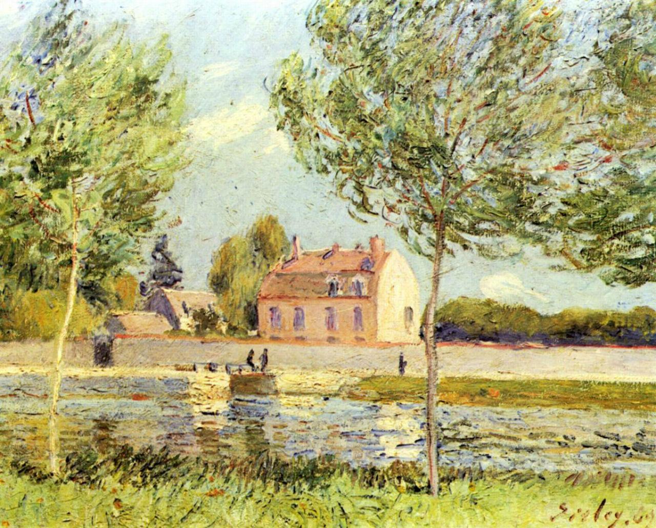 19-Дома вдоль реки Луан - 1889.jpg