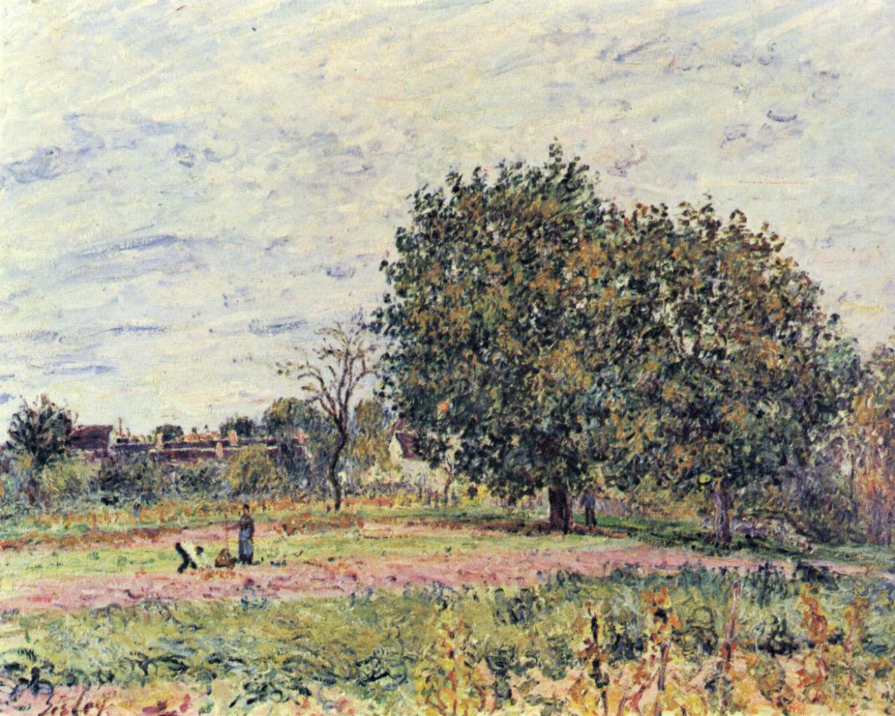 22-Орешник на закате в начале октября - 1882.jpg
