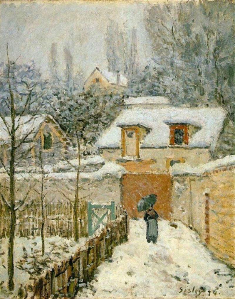 27-Снег в Лувесьенне - 1874.jpg