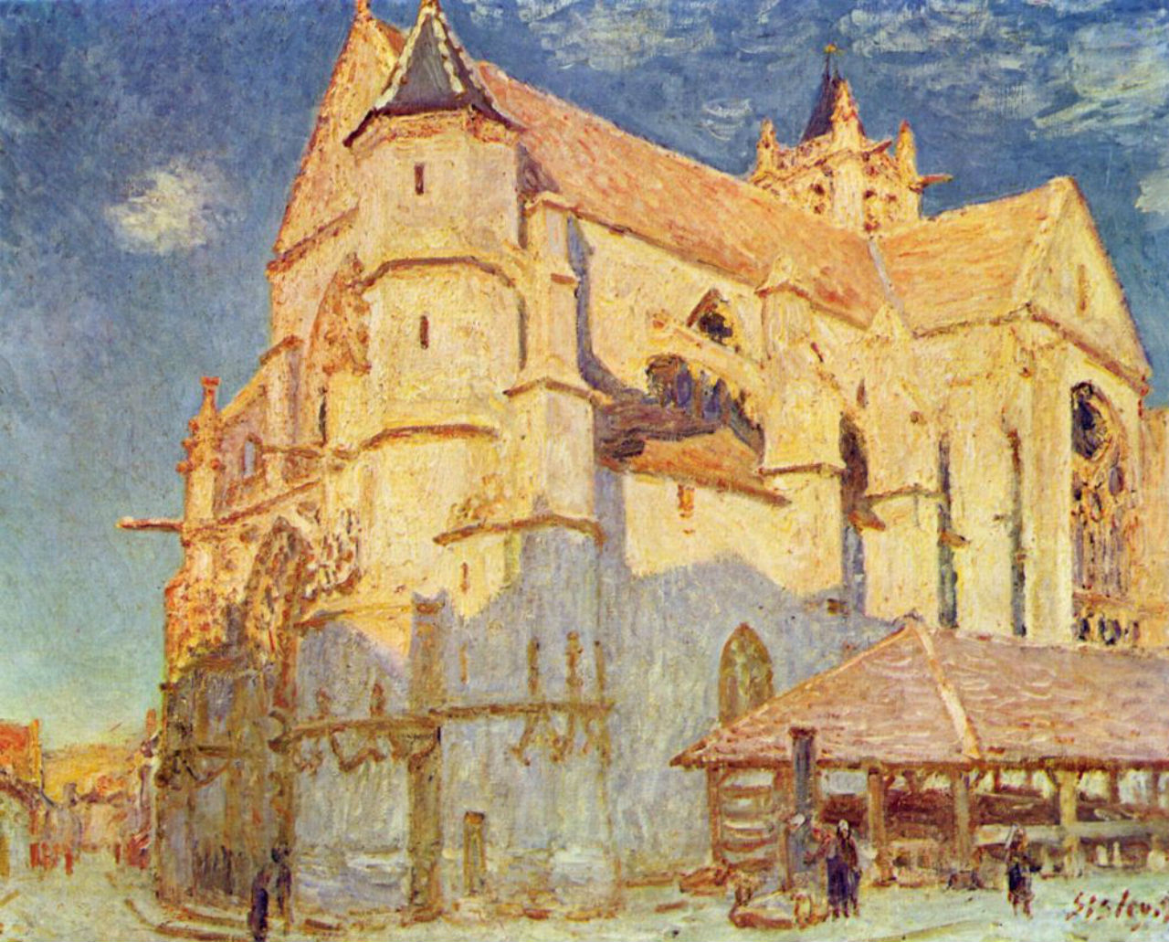 28-Церковь в Морэ - 1893.jpg