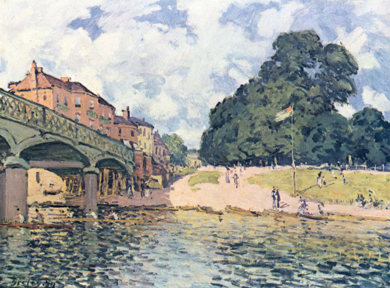30-Мост в Хэмптон-Корте - 1874.jpg