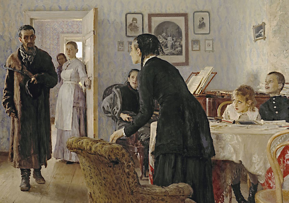Ilya_Repin_Unexpected_visitors_fragment