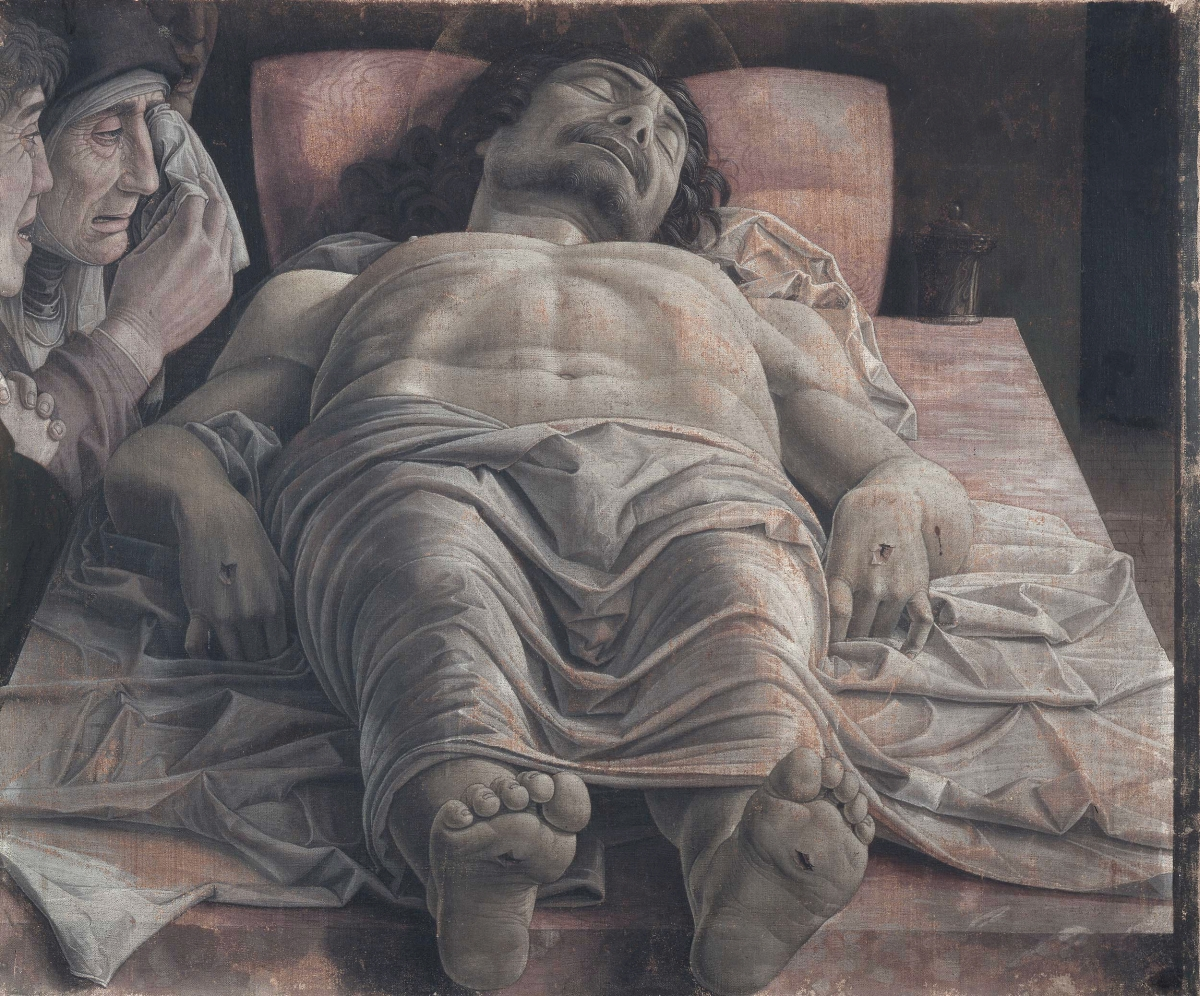 The_dead_Christ_and_three_mourners_by_Andrea_Mantegna