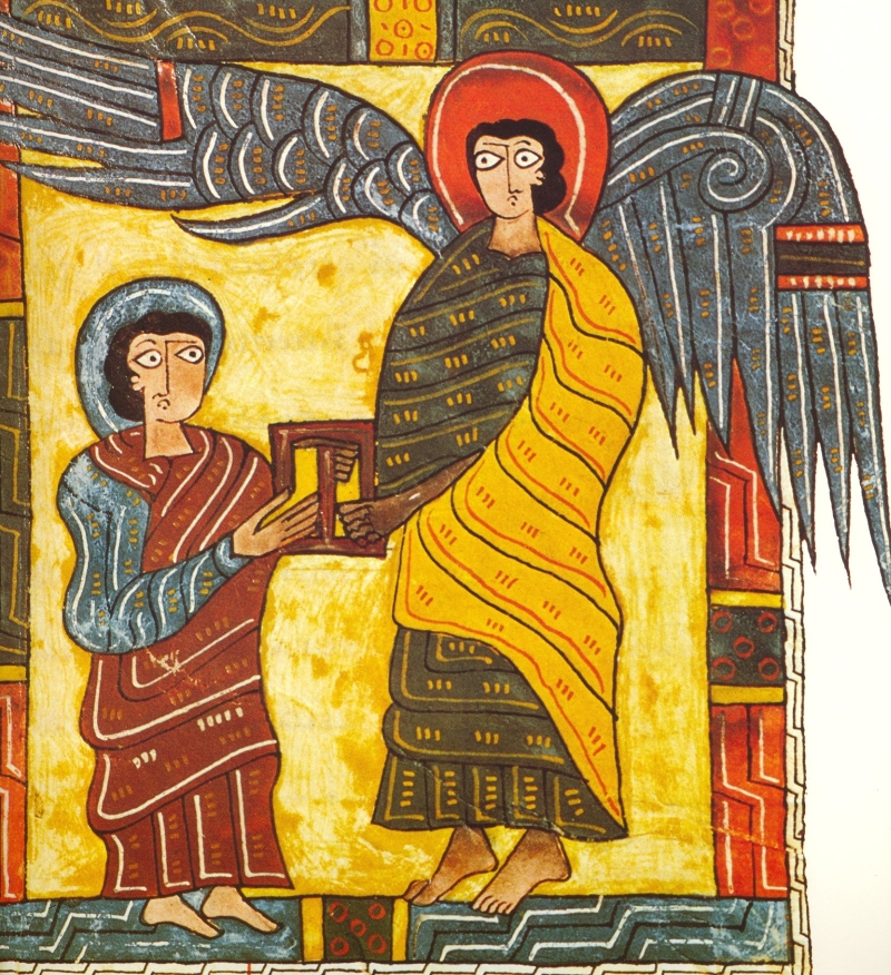 Beatus The Angel gives John the letter for the Church of Ephesus
