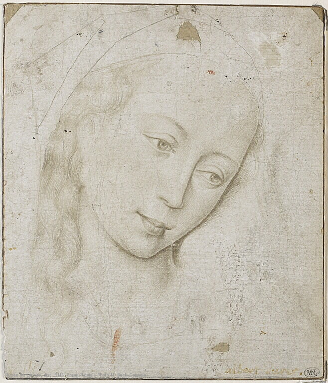 6 Rogier_van_der_Weyden_Head_of_the_Virgin