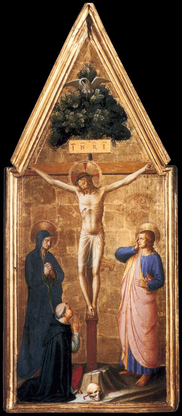Fra_Angelico_-_Crucified_Christ_with_the_Virgin,_St_John_the_Evangelist_and_Cardinal_Juan_de_Torquemada
