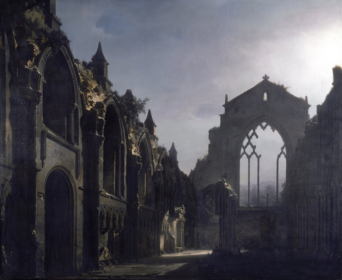 The_Ruins_of_Holyrood_Chapel_-_Louis_Daguerre_1824