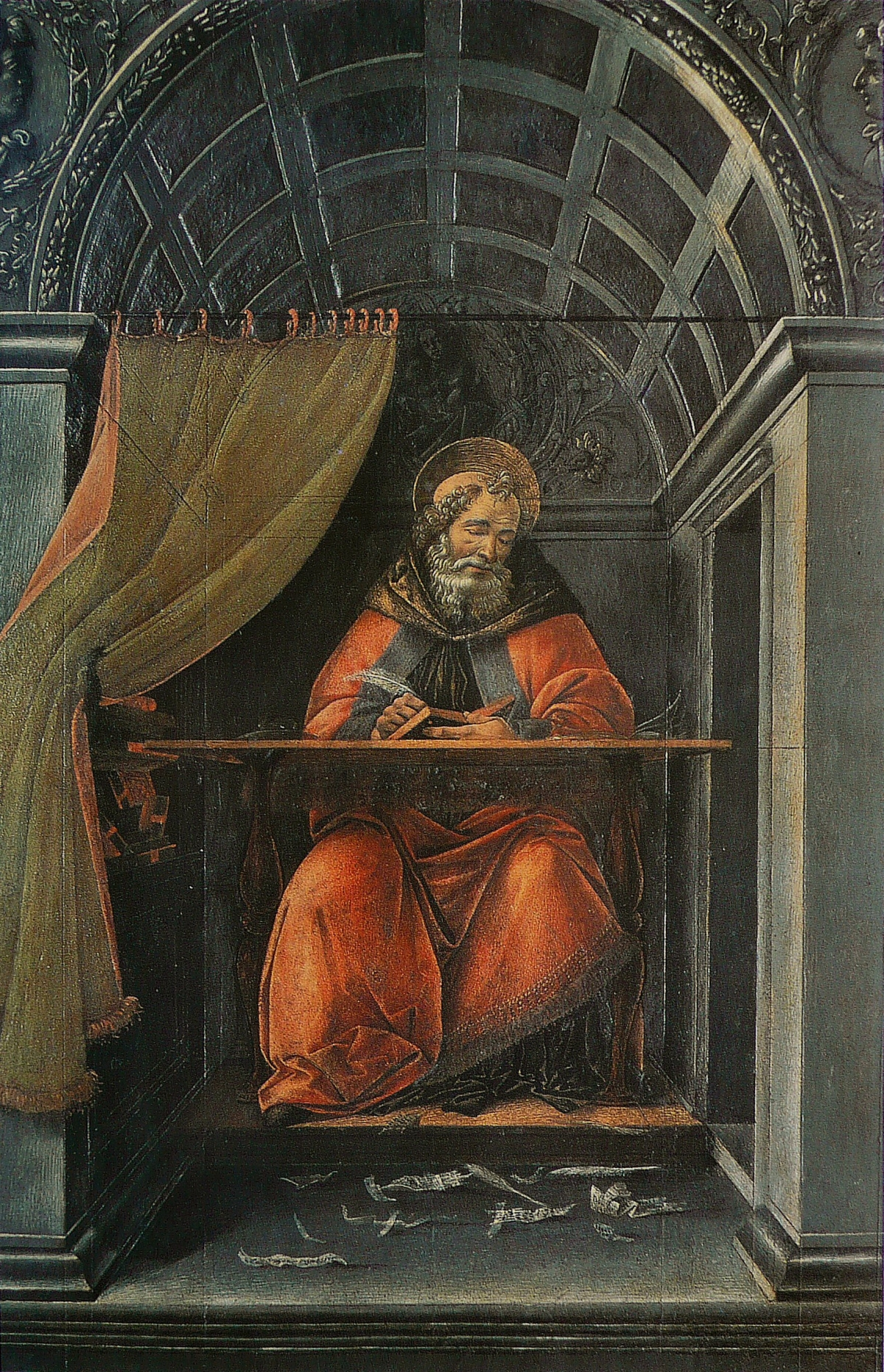 Saint_Augustine_in_His_Study_Botticelli_Uffizi