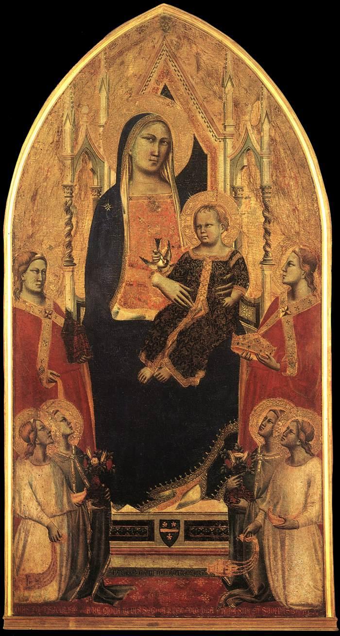 Taddeo_Gaddi_Madonna_in_trono_col_Bambino_angeli_e_sante