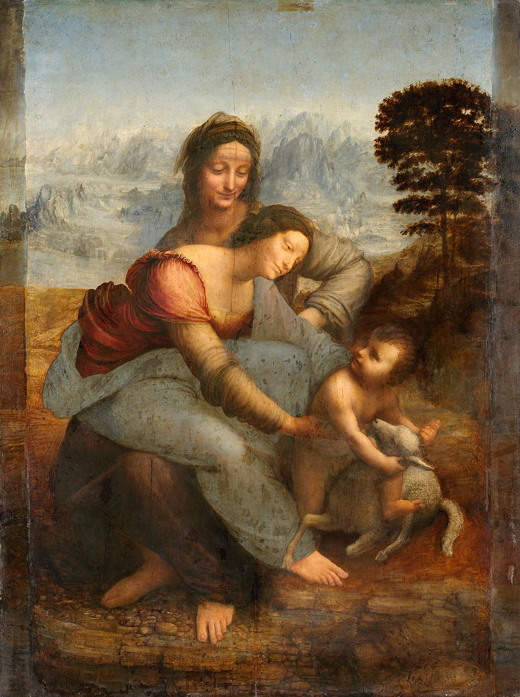 800px-Leonardo_da_Vinci_-_Virgin_and_Child_with_St_Anne_C2RMF_retouched
