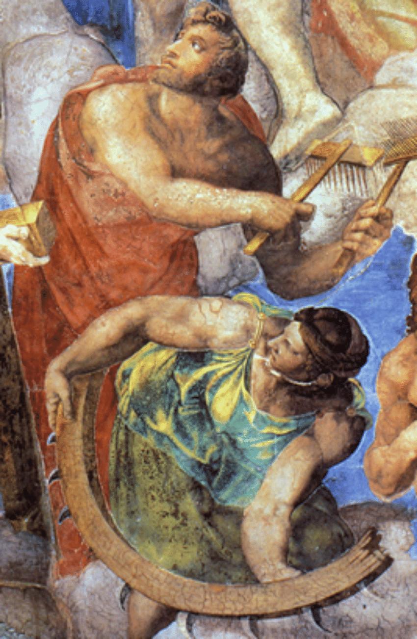 Saint Blaise and Saint Catherine fake