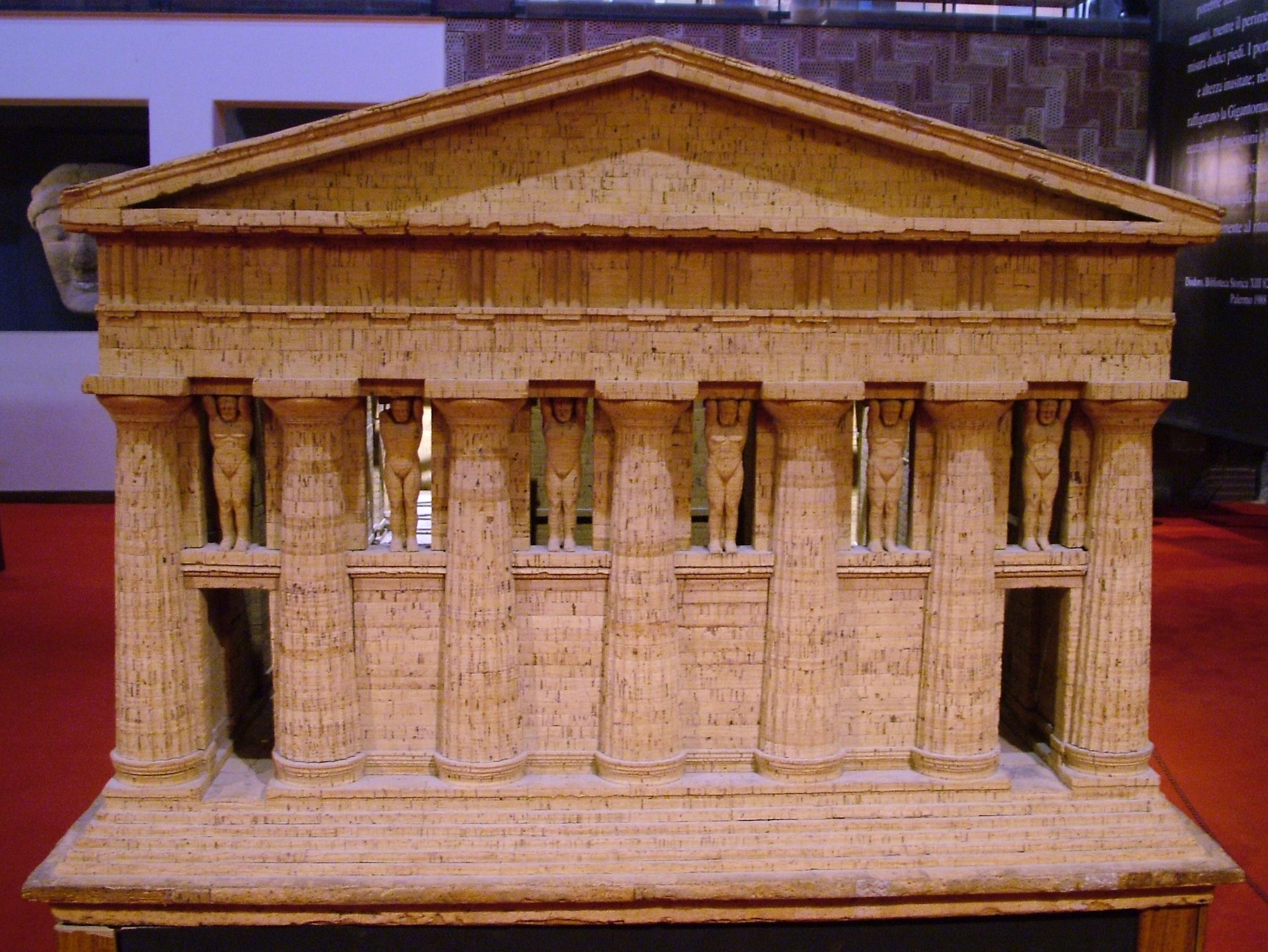 модель храма Зевса Олимпийского в Аркаганте