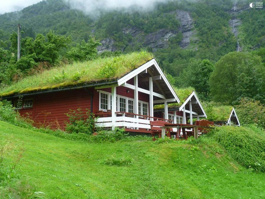 Норвежские травяные крыши