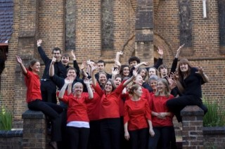 What a great bunch of people! Band + Choir.