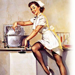 плита женщина