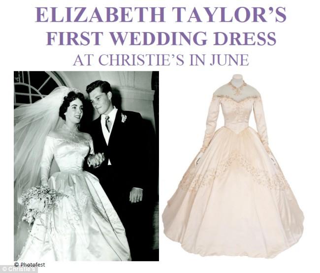 Elizabeth taylor first wedding dress for Elizabeth taylor s wedding dresses