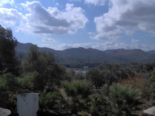 The view from the balcony of my room