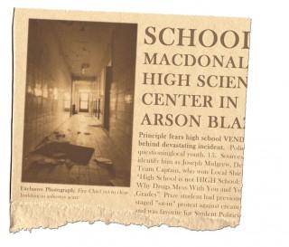 MacDonald High Arson Blaze