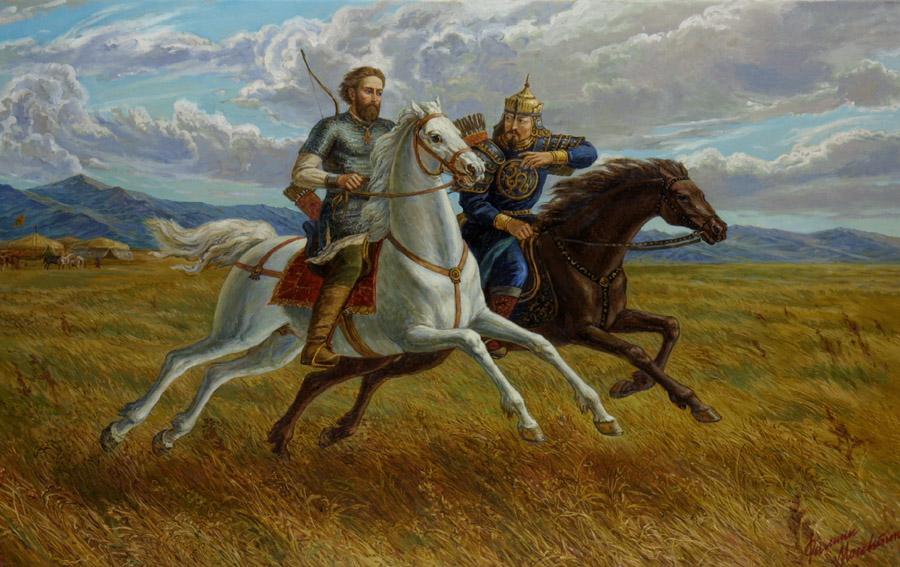 князь Александр Невский и хан Сартак в Орде