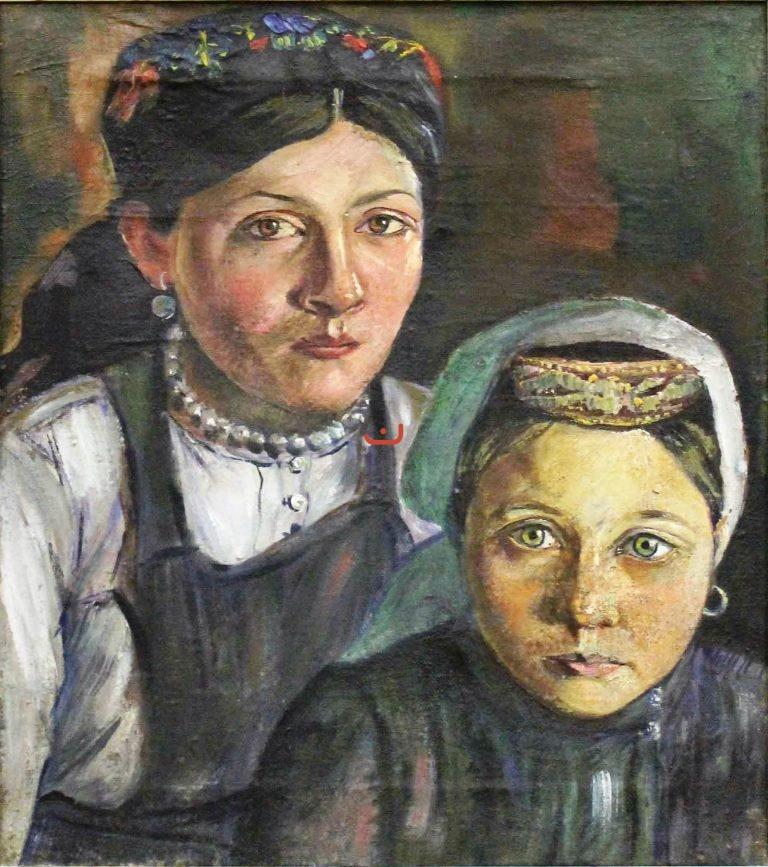 Бурлюк Д.Д. Татарки мать и дочь, 1915-1918