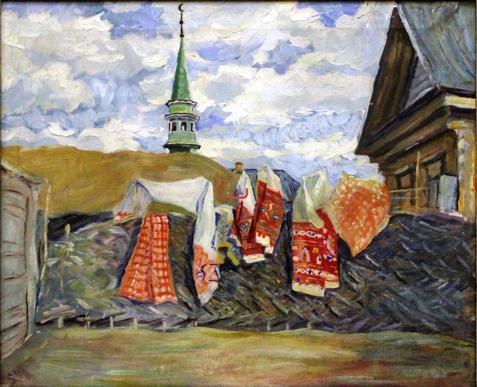 Бурлюк Д.Д. Татарский двор, 1915-1918