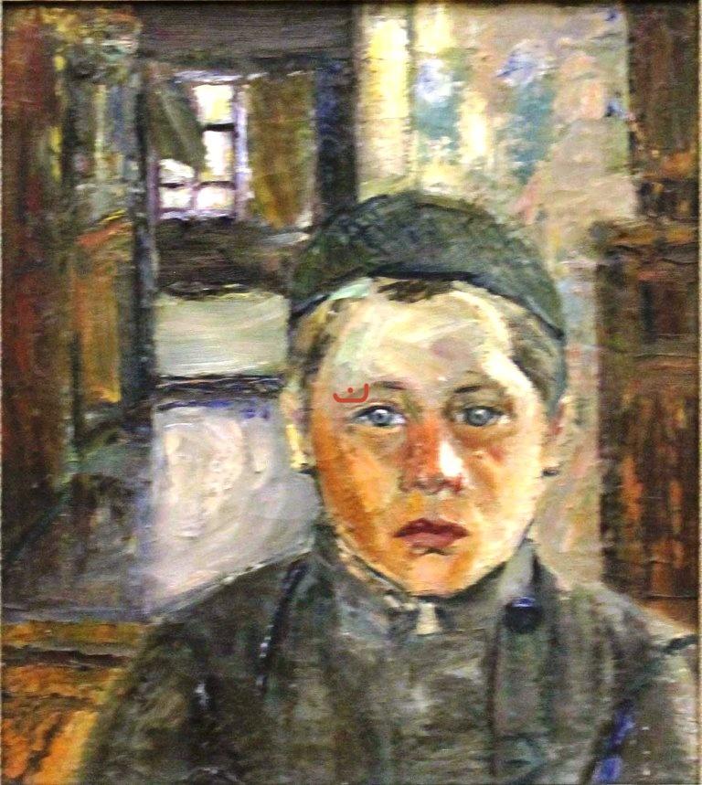 Бурлюк Д.Д. Голова татарского мальчика, 1918
