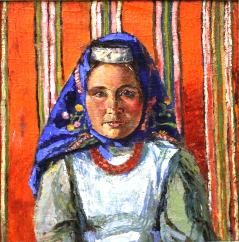 Бурлюк Д.Д, Голова татарки, 1917