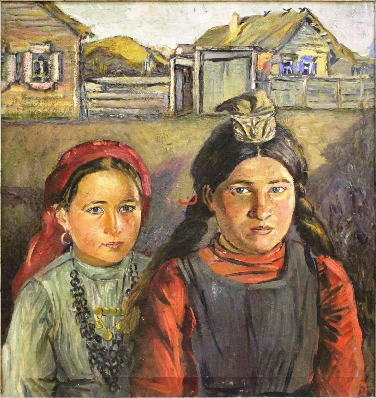 Бурлюк Д.Д, Две татарки, 1915-1918