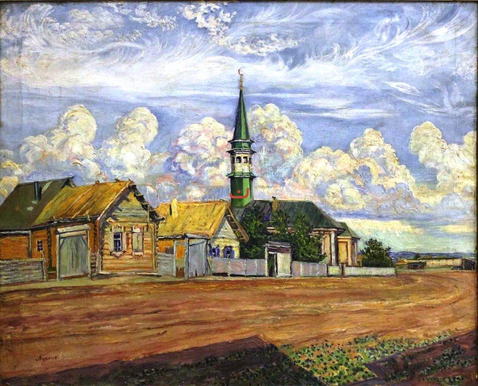 Бурлюк Д.Д. Зеленый минарет, 1915-1918