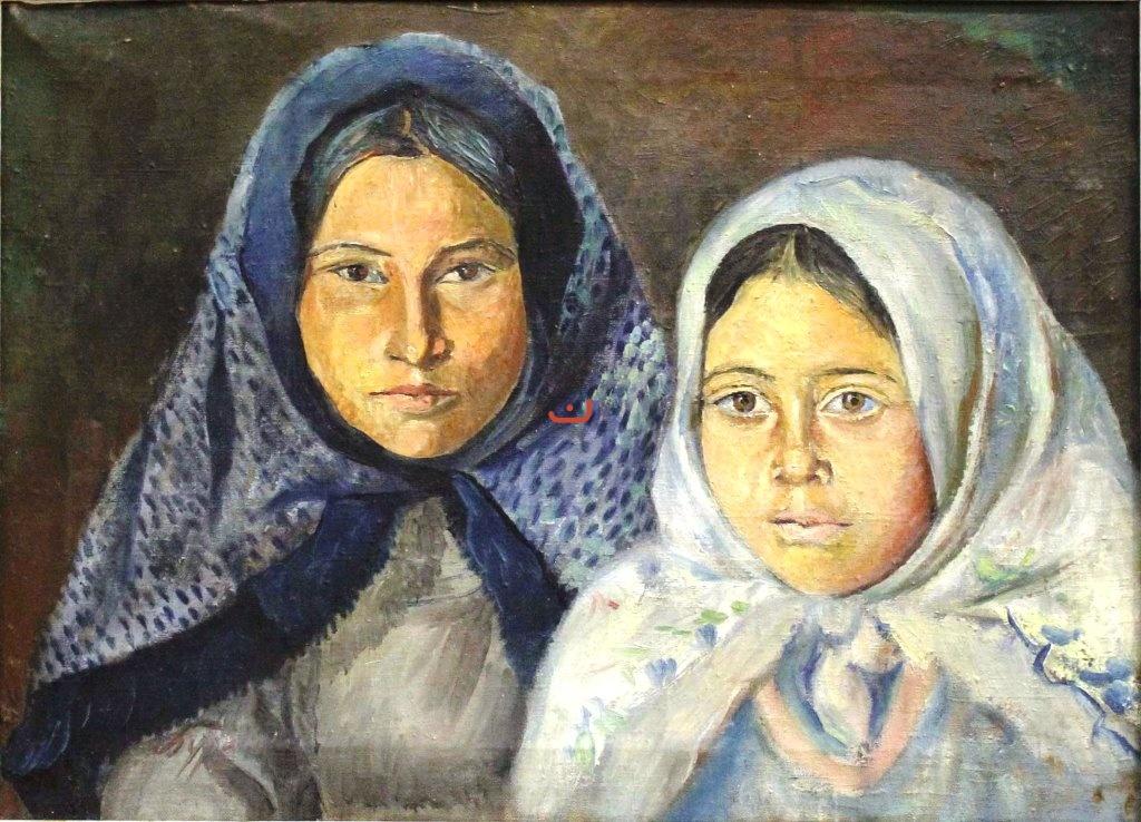 Бурлюк Д.Д. Две татарки, 1915-1918