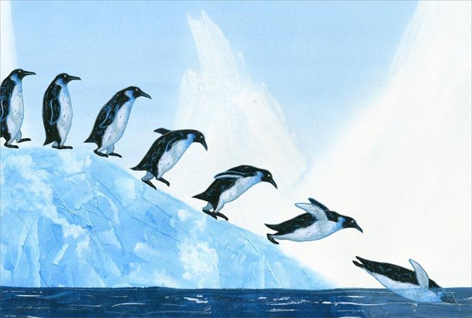 pinguins onderweg