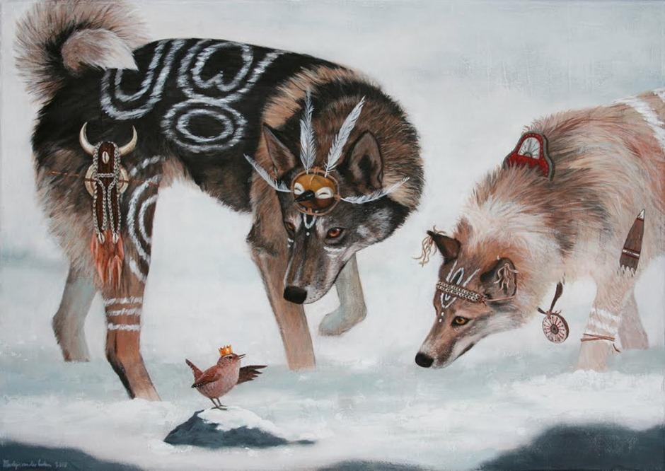 schilderij Luka en Chinook