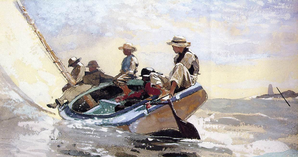 что символизирует лодка у берега на картине