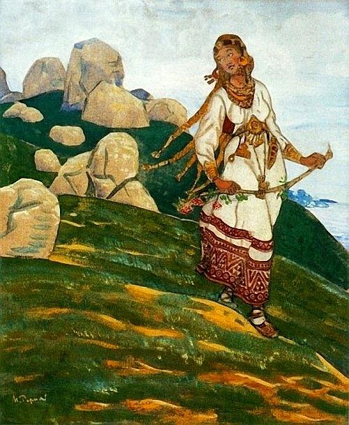 Николай Рерих За морями земли великие. 1910 г.