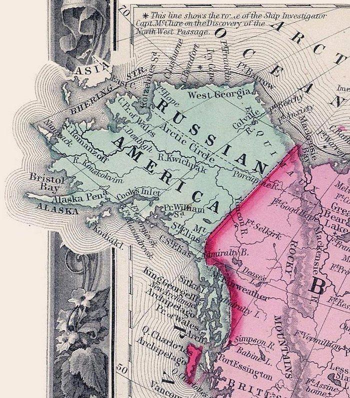 рис 1 Русская Америка в 1860 году