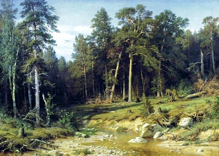 Шишкин И. Сосновый бор. Мачтовый лес в Вятской губернии 1872.