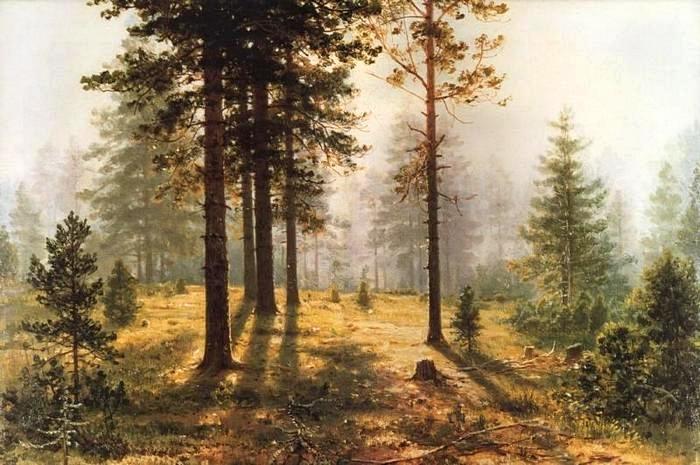 3 Туман в лесу 1888. И. Шишкин