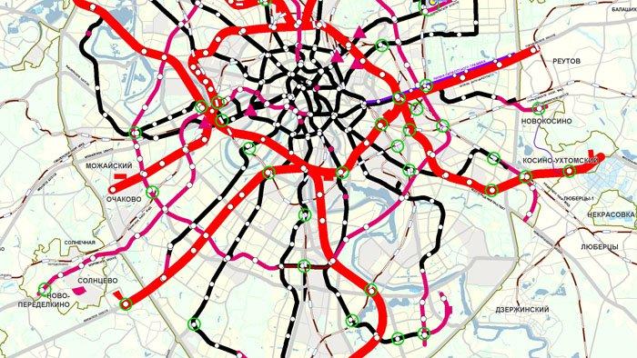схема развития метро до