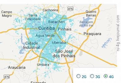 TIM Brasil LTE cover in Curitiba
