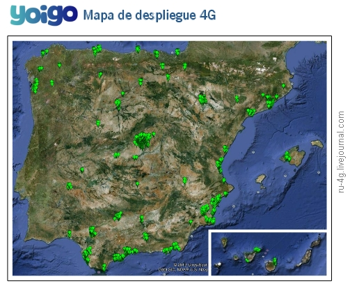 Yoigo Future LTE Cover Map
